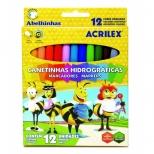 Canetinhas Hidrográficas 12 cores - Acrilex