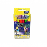 Big Giz de Cera Fantasia Glitter Neon 6 cores - Acrilex