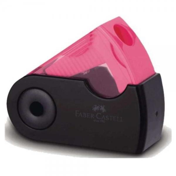 Apontador com Depósito Mini Sleeve  Black Neon - Faber-Castell