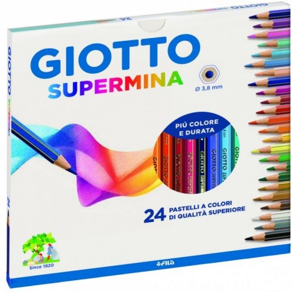 Lápis de Cor Supermina 24 Cores - Giotto