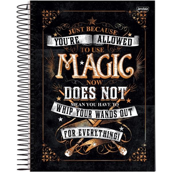 Caderno Universitário Capa Dura Harry Potter - 1 Matéria - 96 Folhas - Jandaia