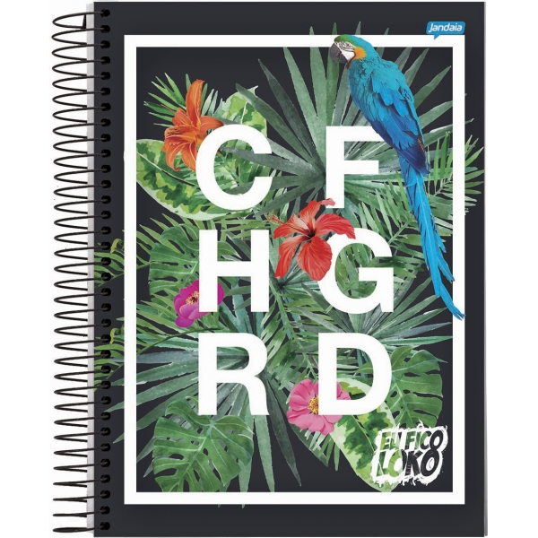 Caderno Universitário Capa Dura Christian Figueiredo - 1 Matéria - 96 Folhas - Jandaia