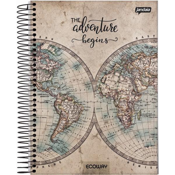Caderno Universitário Capa Dura Eco Way - 1 Matéria - 96 Folhas - Jandaia