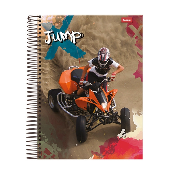 Caderno Universitário Capa Dura Jump - 1 Matéria - 96 Folhas - Foroni