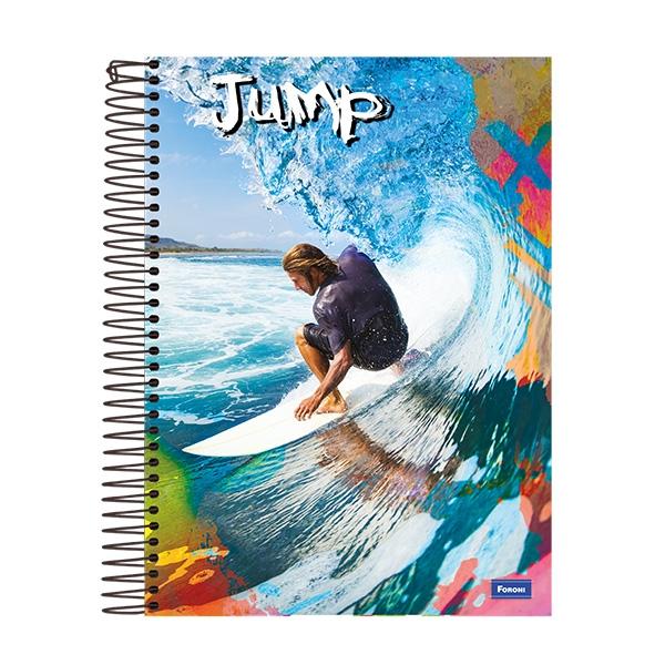 Caderno Universitário Capa Dura Jump - 10 Matérias - 200 Folhas - Foroni