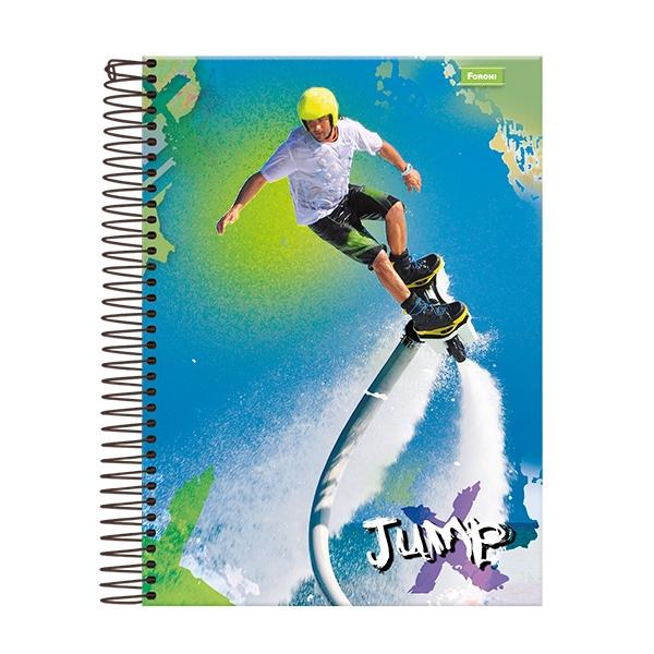 Caderno Universitário Capa Dura Jump - 20 Matérias - 400 Folhas - Foroni