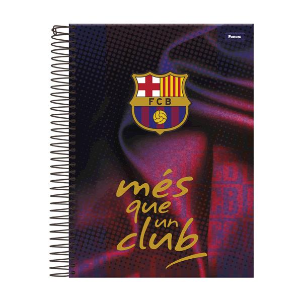 Caderno Universitária Capa Dura Barcelona - 1 Matéria - 96 Folhas - Foroni