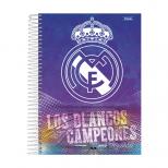 Caderno Universitário Capa Dura Real Madrid - 1 Matéria - 96 Folhas - Foroni