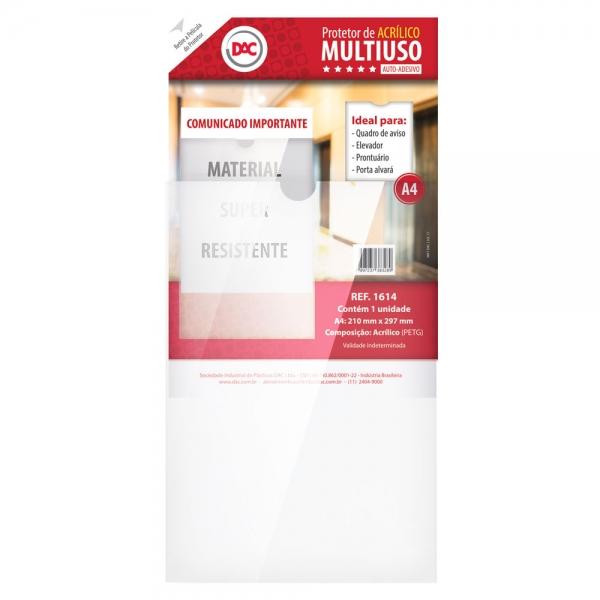Protetor de Acrílico Multiuso A4 - DAC