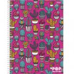 Caderno Universitário Capa Dura Pop Collection - 1 Matéria - 96 Folhas - Foroni