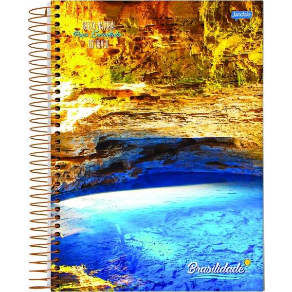 Caderno Universitário Capa Dura Brasilidade - 20 Matérias - 400 Folhas - Jandaia