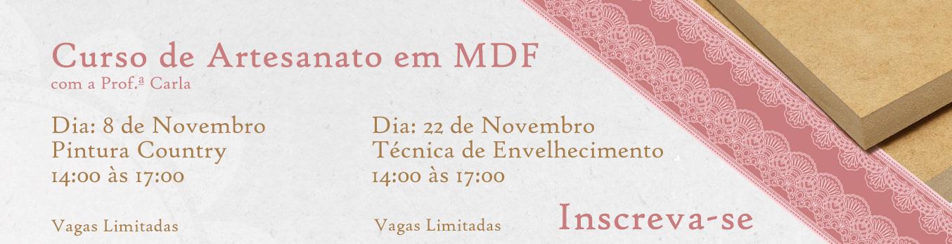 Banner Curso de Artesanato em MDF