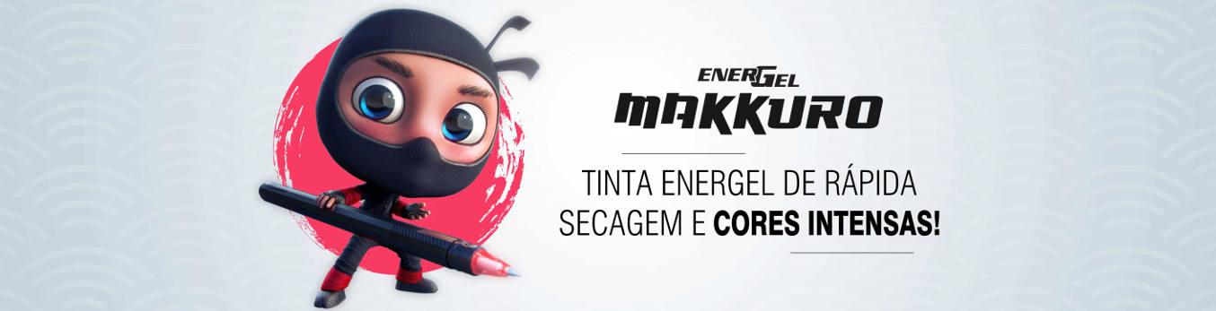 Banner Caneta Energel Makkuro Pentel