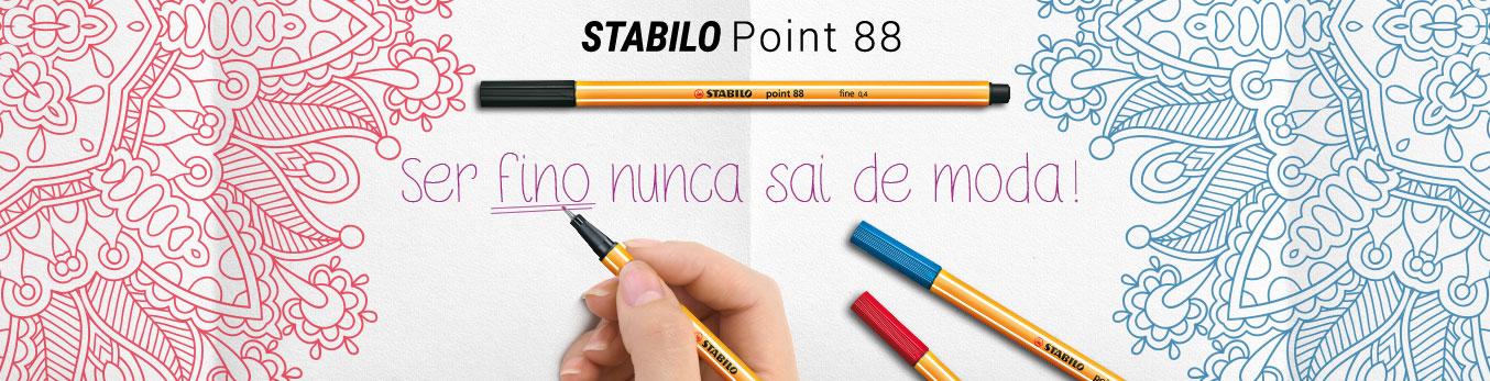 Banner Caneta Stabilo Point 88