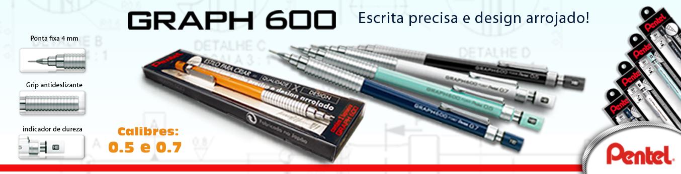 Banner Lapiseira Pentel Graph 600