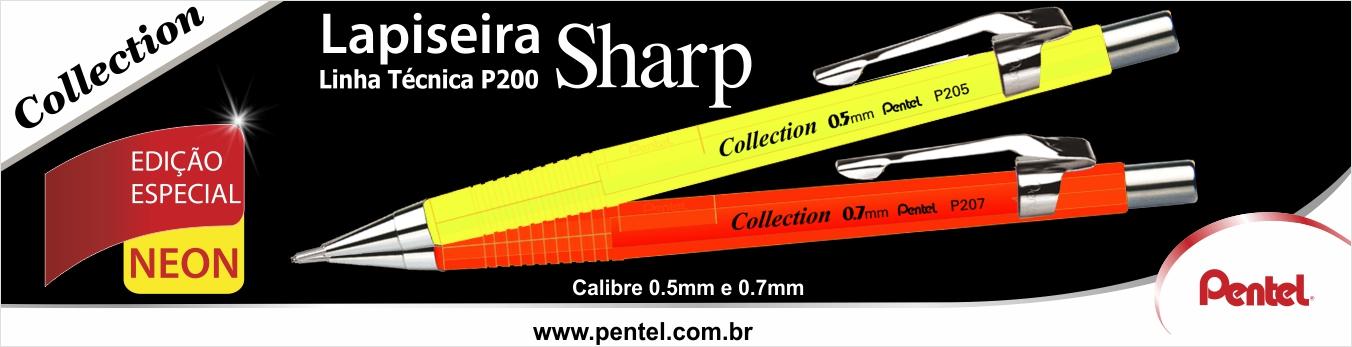 Banner Lapiseira Sharp Pentel